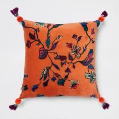 📷 https://www.riverisland.com/p/orange-floral-velvet-cushion-900045