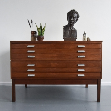 📷https://www.vinterior.co/listings/vintage-large-wooden-architect-s-plan-chest-drawers-1970s