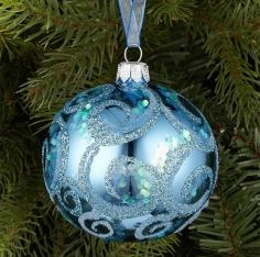 GLITTER WAVE BAUBLES