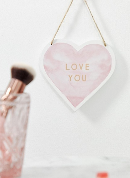 SASS & BELLE VALENTINES LOVE YOU PLAQUE