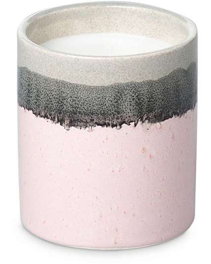 VETIVERT AND SANDALWOOD PINK CERAMIC SCENTED CANDLE