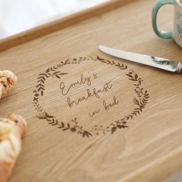PERSONALISED BREAKFAST TRAY 1